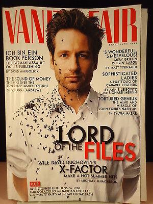 Vanity Fair Magazine  David Duchovny  June 1998  Vintage Back Issue  Rare  6 98