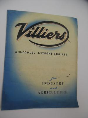 c.1949 VILLIERS Air-Cooled Engine Catalog Brochure Mark 10 20 25 British Vintage
