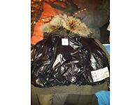 Moncler fur hooded jacket