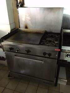 Combination Range 24 Inch Grill 2 Burner - Storey's Online Auction - Restaurant Equipment - May 25 2017