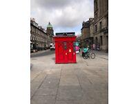Kiosk ( former police box ) to rent on Princess Street