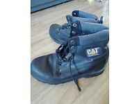 2 pairs of used, black CAT boots, UK size 9 £20,