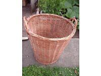 Wicker basket, laundry / washing basket, log basket, toy basket.