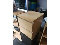 Ikea drawers, used, 40cm wide, 55cm tall, 48cm deep