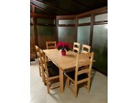 Dining Table And 6 Chairs Used Twice Like New