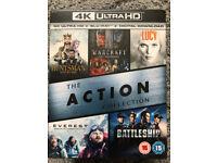 4K UHD ACTION BOXSET X 5 FILMS NEW & SEALED