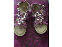 Beautiful monsoon girls sandals size 11 worn for 1 hour