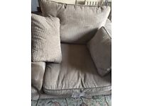 CSL large sofa, chair and foot stool and sturdy. .
