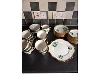 Vintage Salisbury English Bone China 39 piece Tea service