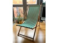 Traditional Adjustable Garden / Beach-style Deck Chair