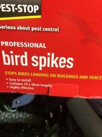Bird deterrent strips