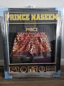 Prince Naseem signed boxing shorts
