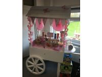 Candy cart and decorations for sale
