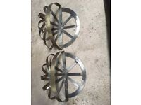 Stainless Steel pair of hanging baskets £10
