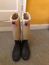 Hunters wellington boots size 7