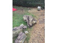 Rockery Stones - 25 stones of varying sizes. Buyer must be able to take away.