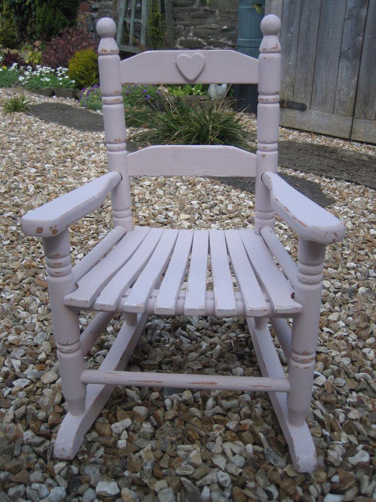 Shabby chic painted rocking chairs - Shabby Chic Painted Rocking Chair Child Size Perfect For A Little Girls Bedroom