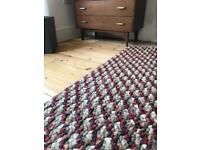 John Lewis 'jelly bean cranberry stripe' rug