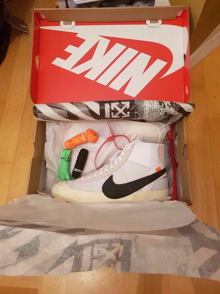 Nike X Off White Blazer Mid UK 10/US 11 Brand New, DS