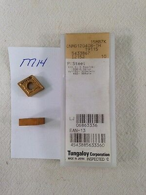 10 New Tungaloy Cnmg 432-th Carbide Inserts. Cnmg 120408 Th Grade T9115 M14