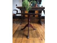 Antique Side table with brass claw feet