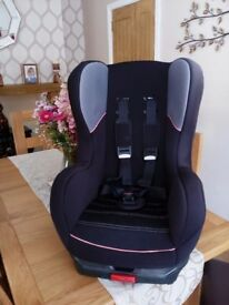 Childs car seat with isofix fitting.