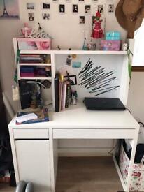 Ikea white studying desk