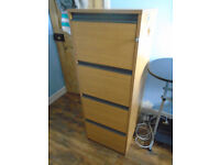 Excellent Large 4 Drawer FILING CABINET for Office or Home Use with Keys