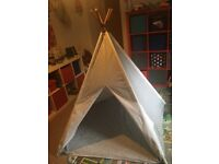 GLTC Large Teepee (play tent) in navy and white stripes