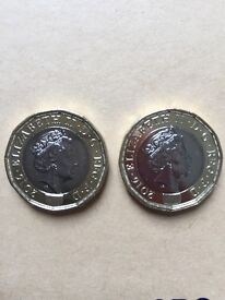 2x 2016 Minting Error £1 Coins for Sale