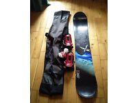 K2 Satellite Snowboard and Bindings plus bag