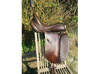 Ideal Jessica brown leather dressage saddle