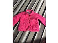 Joules pink girls Coat