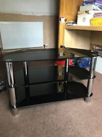 Black and glass gloss TV Stand
