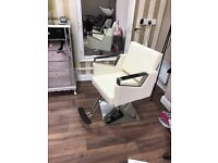 Brand new cream hairdressing chair
