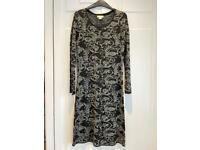 Monsoon black & silver dress - size 10