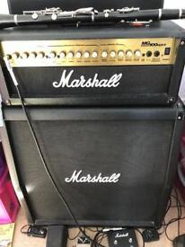 Marshall mg100hdfx and 120w 4x12 angled cab