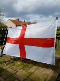 GIANT 9 foot x 5 foot england flags.£2 each or 3 for £5.