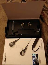 Bose QC20i Accoustic Noise cancelling iPhone headphones