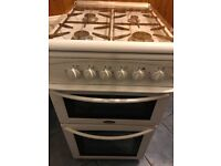 Belling gas cooker double ovens white