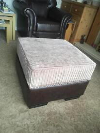 Storage Box - Brown Leather/Latte Cord