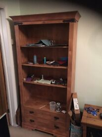 Bookshelf with draws