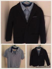 H and M blazer and polo shirt