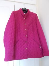 Ladies Pink Quilted Jacket (M & S) - size 24