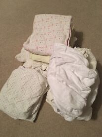 Baby Moses basket sheets gro swaddle sheets