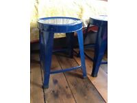 Blue Metal Stools