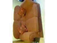 Terracotta 2 seat fabric sofa