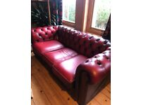Vintage Ox Blood Red Chesterfield Sofa