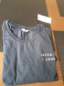 3 x jack jones t shirts and 3 x police t shirts brand new