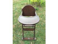 Baby weavers Dark wood high chair